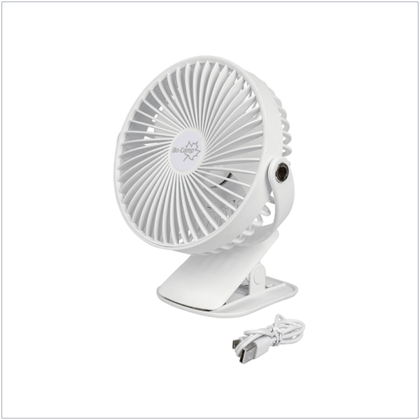 Bo-Camp - Oplaadbare ventilator met klem